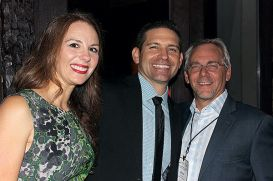 ...with wife Satenik and Brian Bernauer of CALAVO (Photo credit The Produce News)
